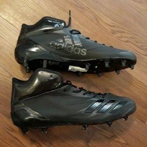 Adizero black football cleats